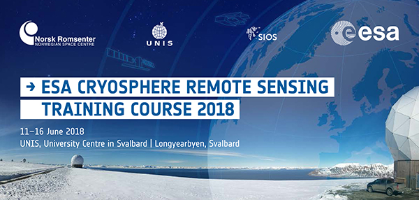 ESA advanced training course on remote sensing of the Cryosphere