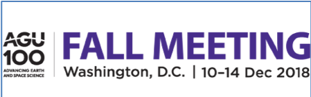 AGU Fall Meeting 2018 Washington D.C., USA, 10-14 Dec 2018