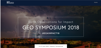 Earth Observation for Impact GEO SYMPOSIUM 2018 11-12 June 2018 / Geneva, Switzerland