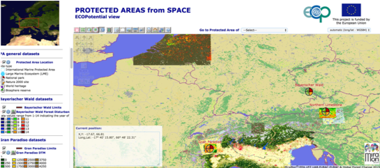 Protected Area from Space: a website