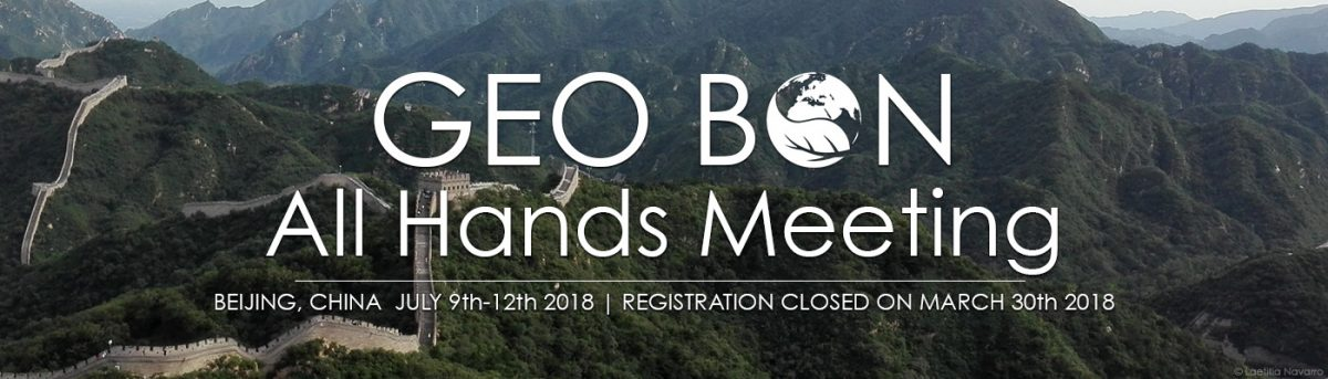 GEO BON 2018 Beijing, China, 9-12 July 2018